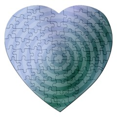 Teal Background Concentric Jigsaw Puzzle (heart)