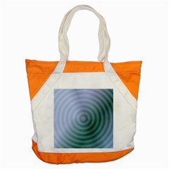 Teal Background Concentric Accent Tote Bag by Nexatart