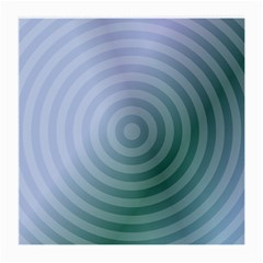 Teal Background Concentric Medium Glasses Cloth (2 Side)