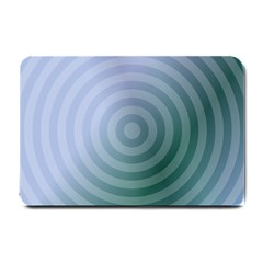Teal Background Concentric Small Doormat