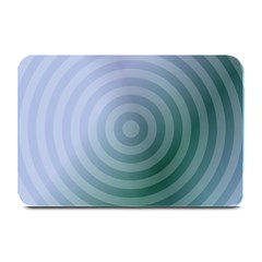 Teal Background Concentric Plate Mats by Nexatart