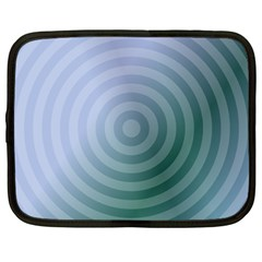 Teal Background Concentric Netbook Case (large)