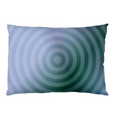 Teal Background Concentric Pillow Case by Nexatart