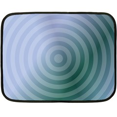 Teal Background Concentric Double Sided Fleece Blanket (mini)