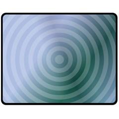 Teal Background Concentric Fleece Blanket (medium)