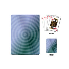 Teal Background Concentric Playing Cards (mini)  by Nexatart