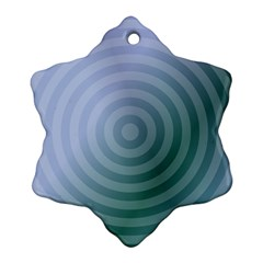 Teal Background Concentric Ornament (snowflake)