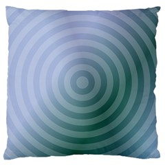 Teal Background Concentric Large Cushion Case (two Sides) by Nexatart