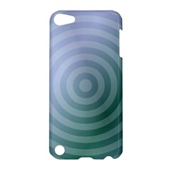 Teal Background Concentric Apple Ipod Touch 5 Hardshell Case