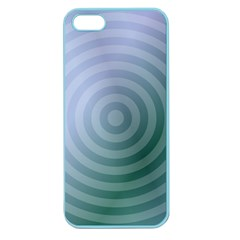 Teal Background Concentric Apple Seamless Iphone 5 Case (color)