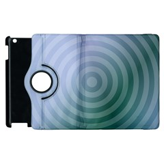 Teal Background Concentric Apple Ipad 3/4 Flip 360 Case