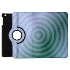 Teal Background Concentric Apple Ipad Mini Flip 360 Case