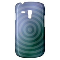 Teal Background Concentric Galaxy S3 Mini