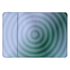 Teal Background Concentric Samsung Galaxy Tab 8 9  P7300 Flip Case