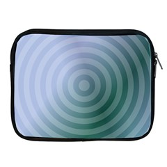 Teal Background Concentric Apple Ipad 2/3/4 Zipper Cases