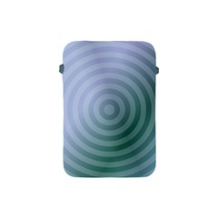 Teal Background Concentric Apple Ipad Mini Protective Soft Cases by Nexatart