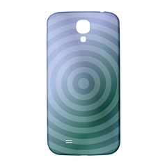Teal Background Concentric Samsung Galaxy S4 I9500/i9505  Hardshell Back Case
