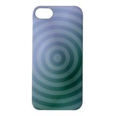 Teal Background Concentric Apple Iphone 5s/ Se Hardshell Case