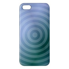 Teal Background Concentric Iphone 5s/ Se Premium Hardshell Case