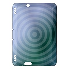 Teal Background Concentric Kindle Fire Hdx Hardshell Case