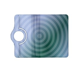 Teal Background Concentric Kindle Fire Hd (2013) Flip 360 Case by Nexatart