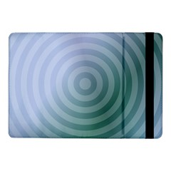 Teal Background Concentric Samsung Galaxy Tab Pro 10 1  Flip Case by Nexatart
