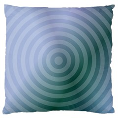 Teal Background Concentric Large Flano Cushion Case (two Sides) by Nexatart