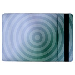 Teal Background Concentric Ipad Air 2 Flip