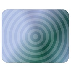 Teal Background Concentric Double Sided Flano Blanket (medium)  by Nexatart