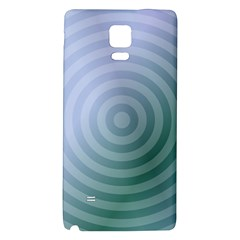 Teal Background Concentric Galaxy Note 4 Back Case