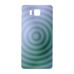 Teal Background Concentric Samsung Galaxy Alpha Hardshell Back Case by Nexatart