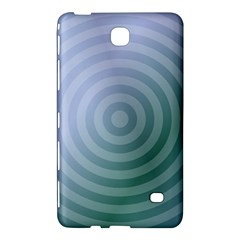 Teal Background Concentric Samsung Galaxy Tab 4 (7 ) Hardshell Case  by Nexatart
