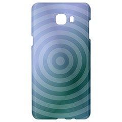 Teal Background Concentric Samsung C9 Pro Hardshell Case  by Nexatart