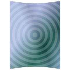 Teal Background Concentric Back Support Cushion by Nexatart