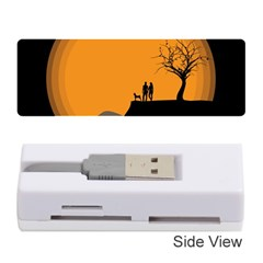 Couple Dog View Clouds Tree Cliff Memory Card Reader (stick)