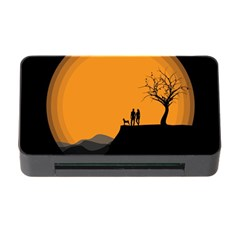 Couple Dog View Clouds Tree Cliff Memory Card Reader With Cf