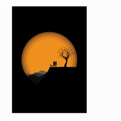 Couple Dog View Clouds Tree Cliff Large Garden Flag (two Sides) by Nexatart