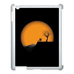 Couple Dog View Clouds Tree Cliff Apple Ipad 3/4 Case (white) by Nexatart