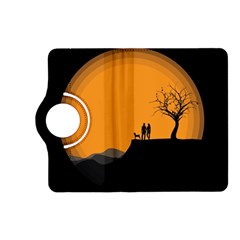Couple Dog View Clouds Tree Cliff Kindle Fire Hd (2013) Flip 360 Case by Nexatart
