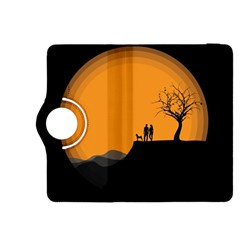 Couple Dog View Clouds Tree Cliff Kindle Fire Hdx 8 9  Flip 360 Case by Nexatart