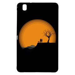 Couple Dog View Clouds Tree Cliff Samsung Galaxy Tab Pro 8 4 Hardshell Case