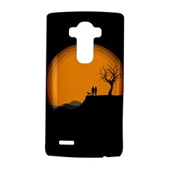 Couple Dog View Clouds Tree Cliff Lg G4 Hardshell Case by Nexatart