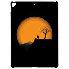Couple Dog View Clouds Tree Cliff Apple Ipad Pro 12 9   Hardshell Case