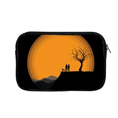 Couple Dog View Clouds Tree Cliff Apple Macbook Pro 13  Zipper Case by Nexatart