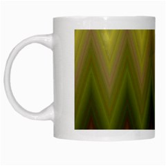 Zig Zag Chevron Classic Pattern White Mugs