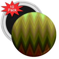 Zig Zag Chevron Classic Pattern 3  Magnets (10 Pack)