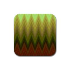 Zig Zag Chevron Classic Pattern Rubber Square Coaster (4 Pack)  by Nexatart