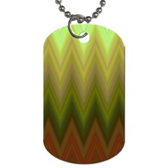 Zig Zag Chevron Classic Pattern Dog Tag (two Sides)