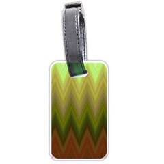 Zig Zag Chevron Classic Pattern Luggage Tags (two Sides)