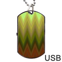 Zig Zag Chevron Classic Pattern Dog Tag Usb Flash (one Side)